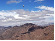Paragliding in Famatina :: Visible desert road of Ruta 40