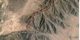 XC at Famatina :: Sample paragliding cross country route of 20 miles / 35km along Famatina range