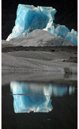 Benito ice tower - Tower of ice in front of Benito Glacier, Northern Patagonian Ice Field, Aisen, Patagonia, Chile