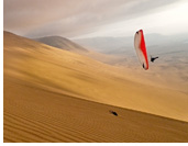 Sunset paragliding at Palo Buque - 3000ft sand dunes, Iquique, Chile