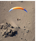 Paragliding at Vulture Ridge, Pisagua, Atacama Desert, Chile