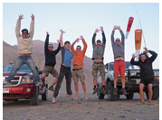Happy pilots at Tiliviche Canyon, Pisagua, Iquique, Atacama Desert, Chile