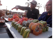 Where is fresh sea food there is great sushi, Iquique, Atacama Desert, Chile