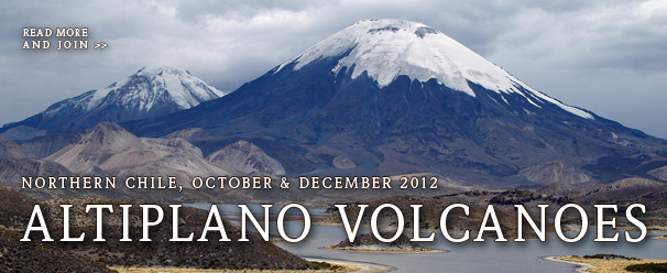 Altiplano volcanoes, Parinacota and Pomerape, Payachatas Range, Northern Chile