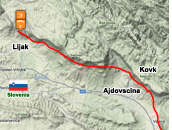 Sample intermediate XC paragliding route from Lijak, Slovenia